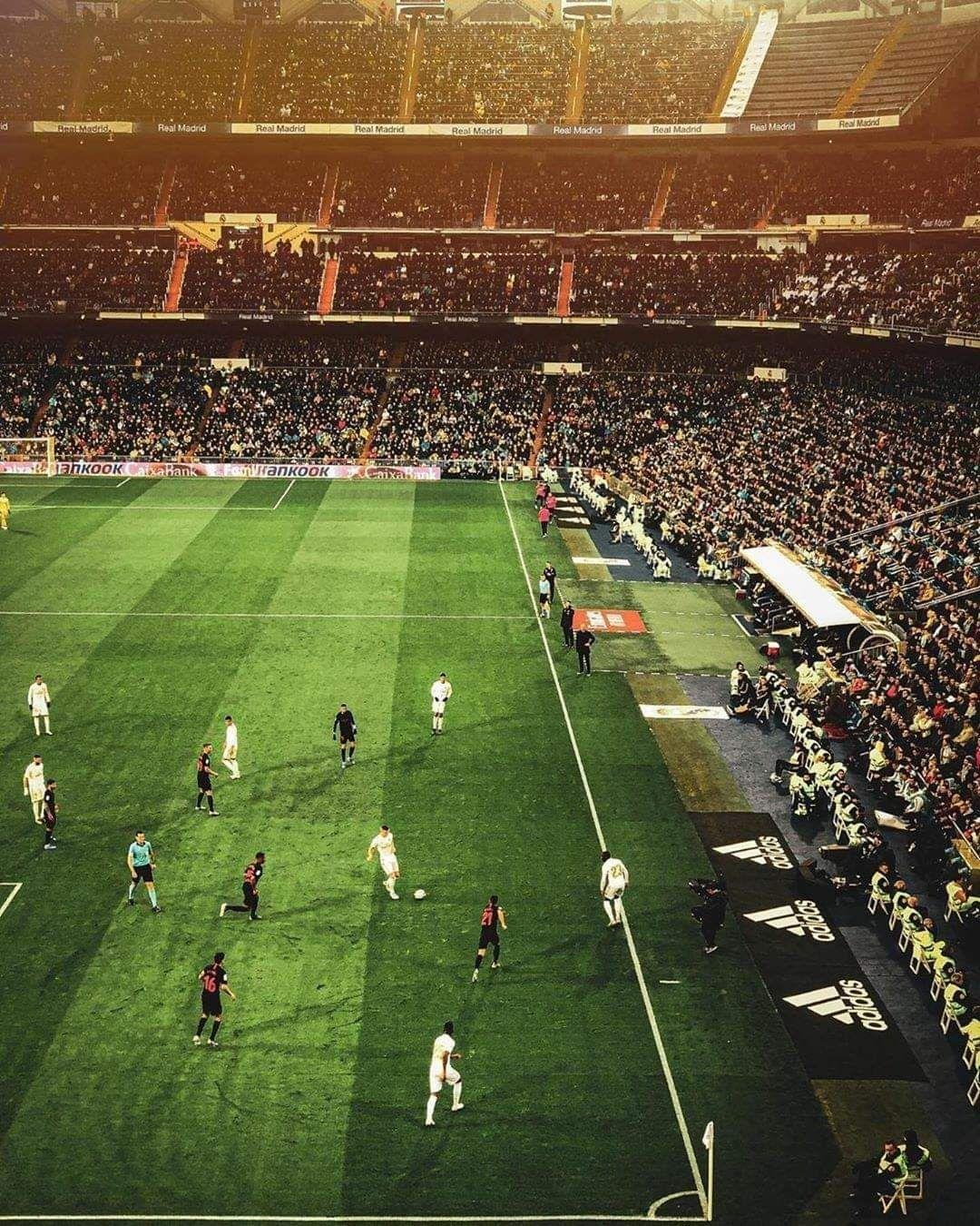 Just An Evening Scene At The Estadio Santiago Bernabéu Real Madrid Castilla Real Madrid Upcoming Matches