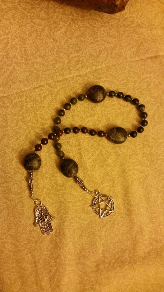 Check out this item in my Etsy shop https://www.etsy.com/listing/242347122/handmade-witches-ladder-prayer