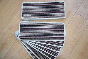 Best 14 Open Plan Carpet Stair Treads Fancy Stripe Purple Large 400 x 300