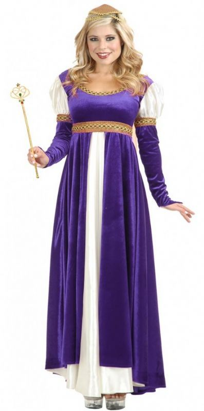 Lady Of Camelot Renaissance Medieval Purple Costume Plus Size Xxxl