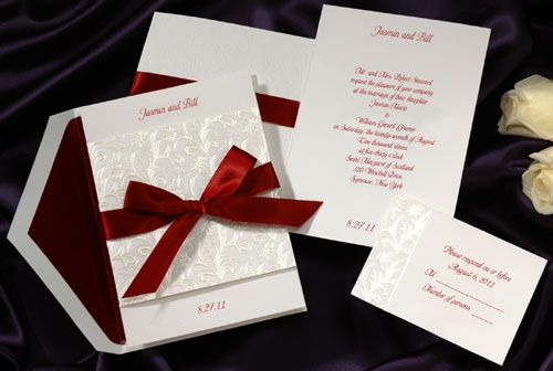 white&red wedding invitation cards - partecipazioni matrimonio, Wedding invitations