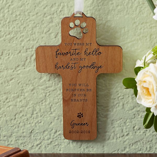 Pet Memorial Personalized Wood Cross In 2019 Products
