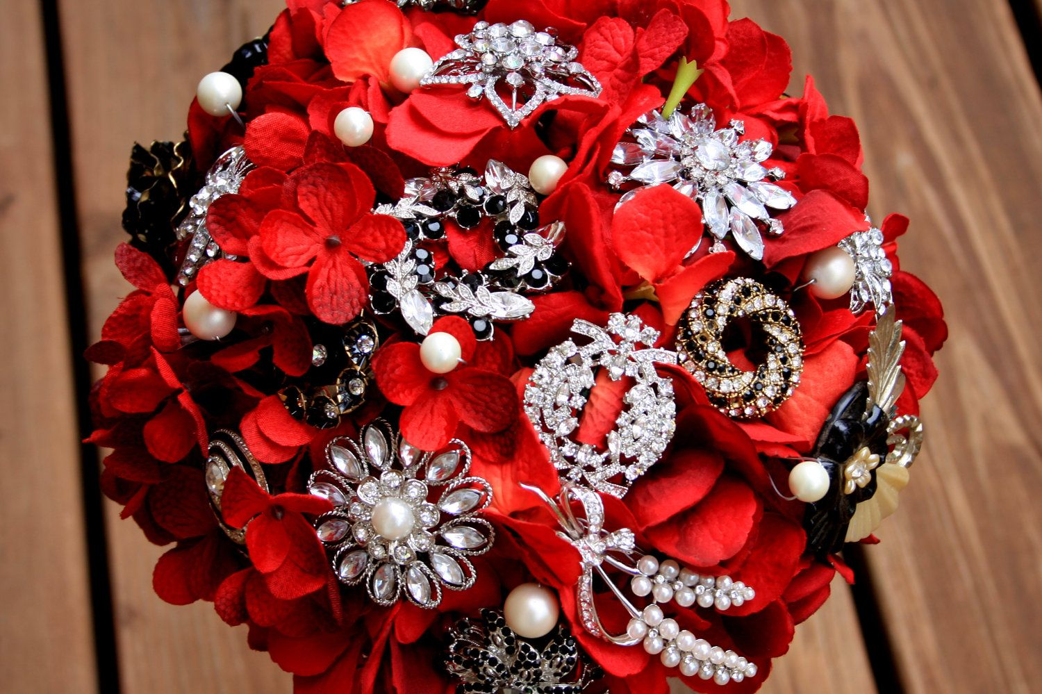 Red Black And Silver Wedding Red Black Silver Pearl