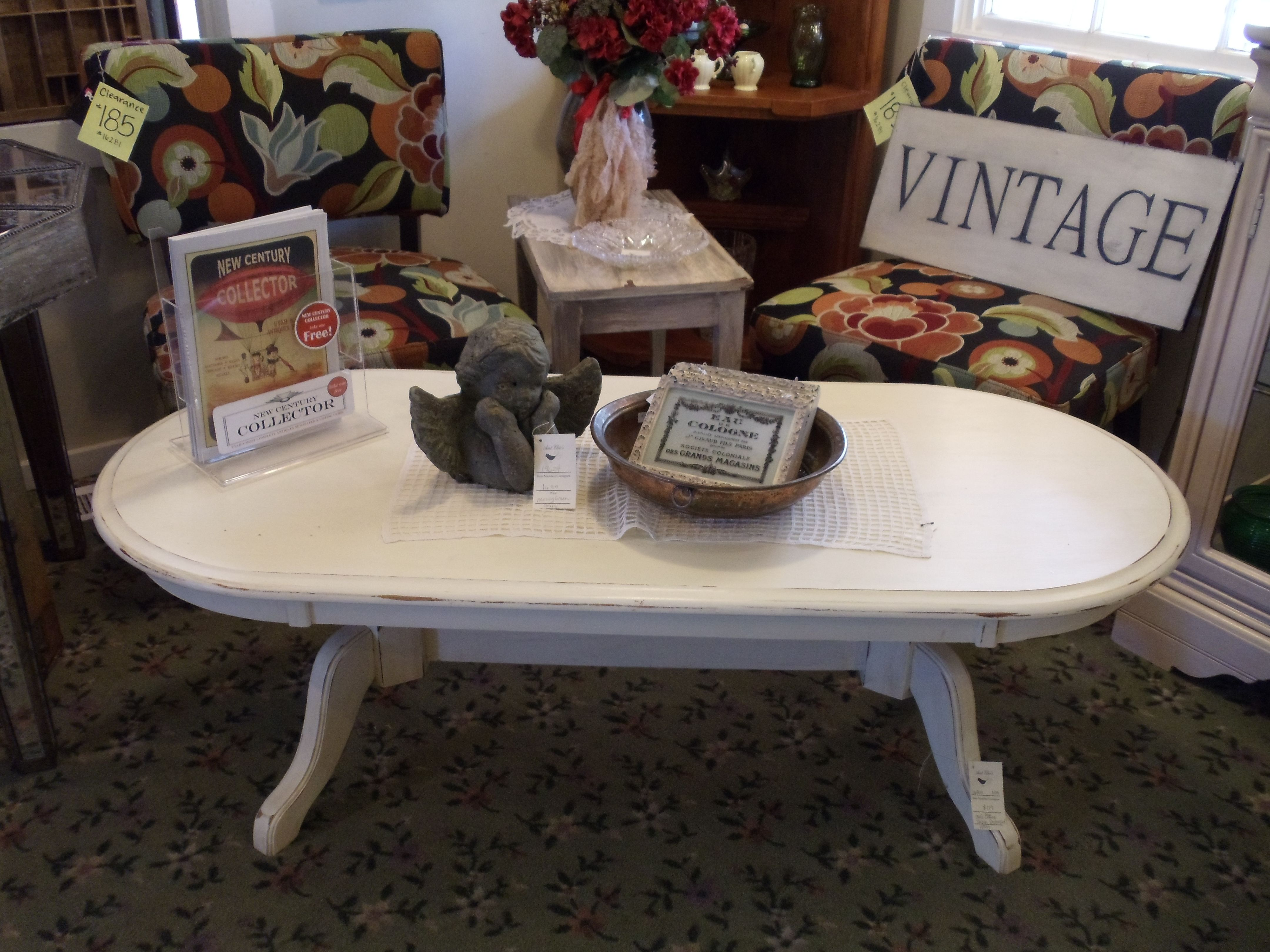 Refinished cream oval coffee table diy pinterest oval coffee refinished cream oval coffee table geotapseo Image collections