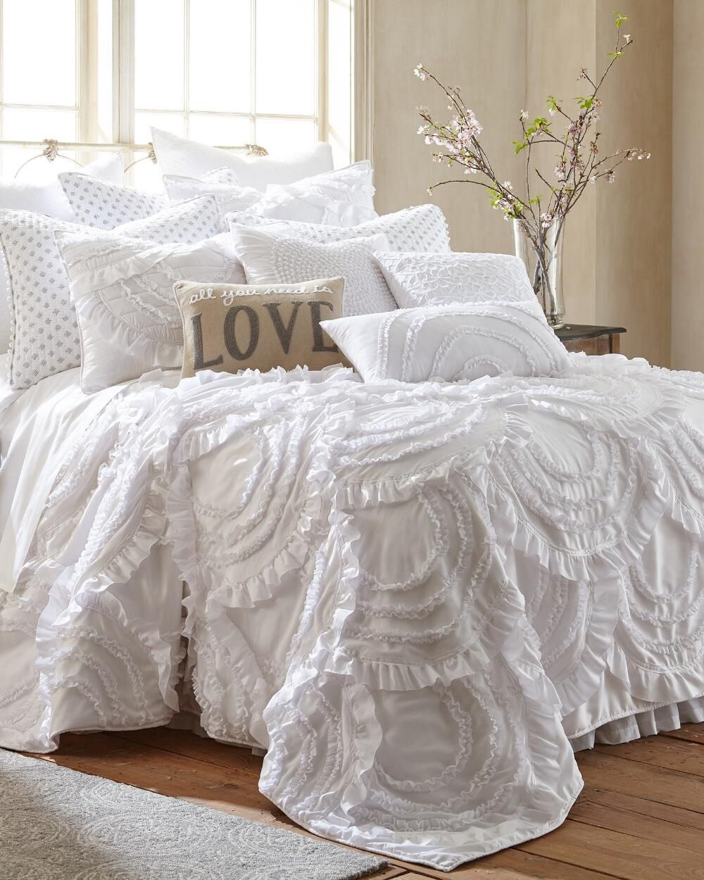 Lyla Ruffled Luxury Euro Sham Smu Luxurious Bedrooms