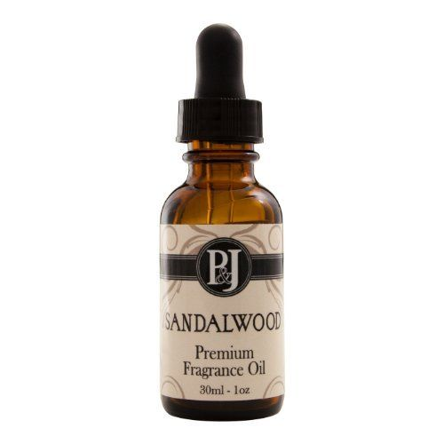 Sandalwood Premium Grade Fragrance Oil - Perfume Oil - 30ml/1oz by P&J Trading. $5.95. PandJ Premium Fragrance oils are highly concentrated, enhanced formulations designed for sustained aroma and scent throw. The concentration allows for less oil usage in your creations.. Fragrance Oils offered by Pand J Trading include: Apple; Almond; Blueberry; Banana; Cinnamon; Coconut; Cranberry; Freesia; Gardenia; Gingerbread; Jasmine; Lavender; Lilac; Patchouli; Sandalwood; Va...