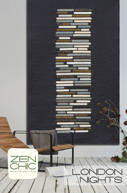 londres nuits courtepointe mod le zen chic patch. Black Bedroom Furniture Sets. Home Design Ideas