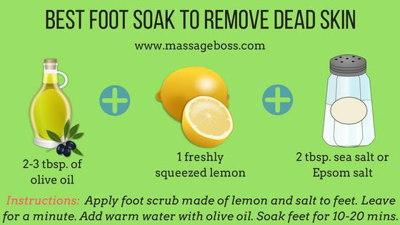 soak feet to remove dead skin   Diy