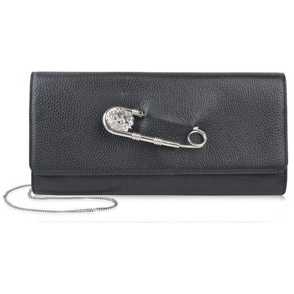 07f6952958fc Versus Versace Safety Pin Clutch Chain Bag ( 355) ❤ liked on Polyvore  featuring bags