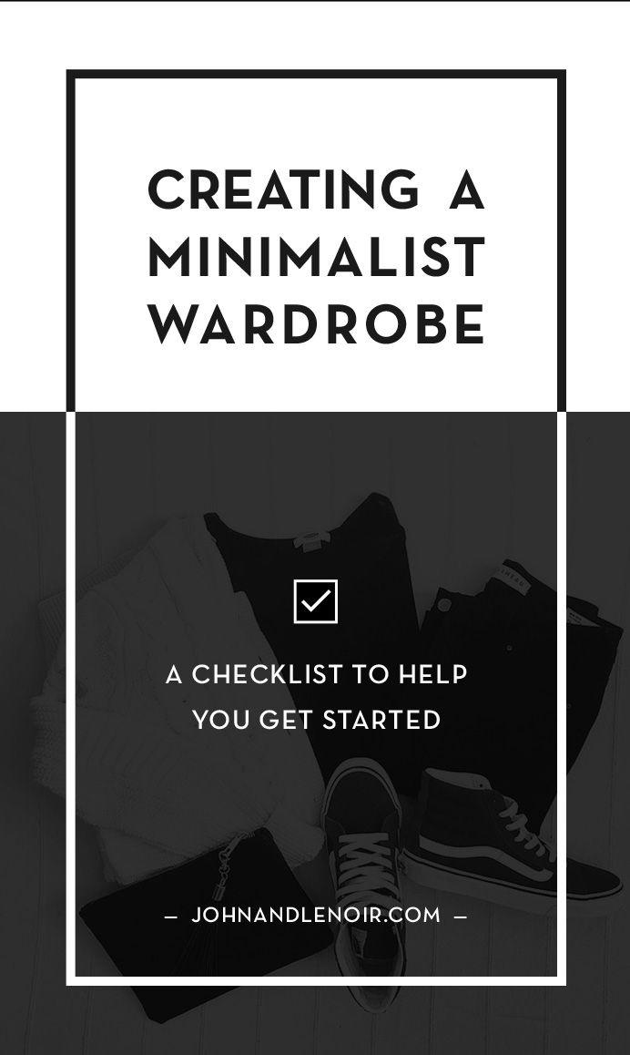Creating A Minimalist Wardrobe  Minimalist Wardrobe Minimalist