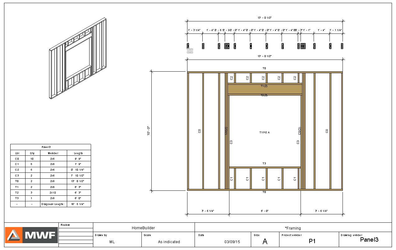Shop drawing wood framing in Revit with MWF | CadBimComputer ...