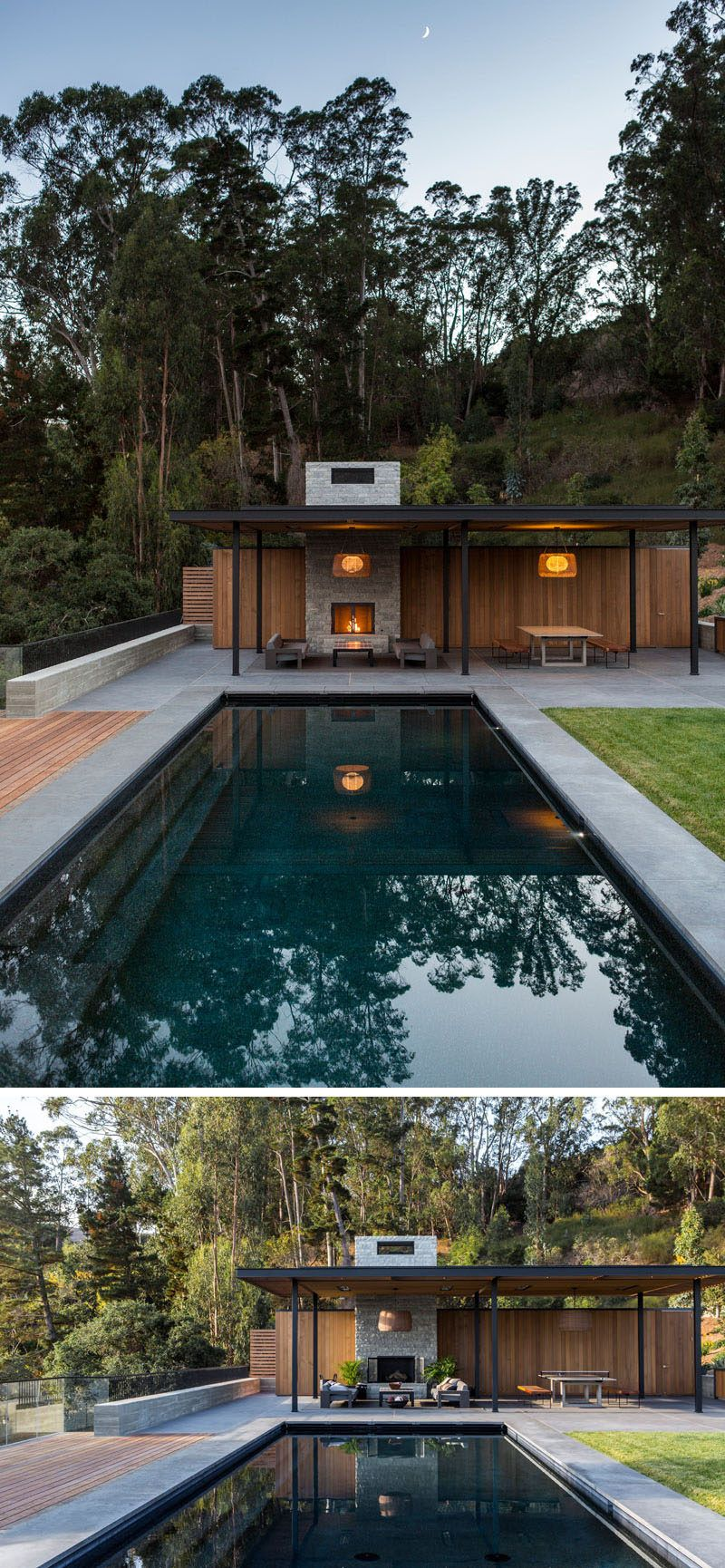 The Tiburon Bay View House By Walker Warner Architects With Images Pool Cabana Modern Pools Pool Decor