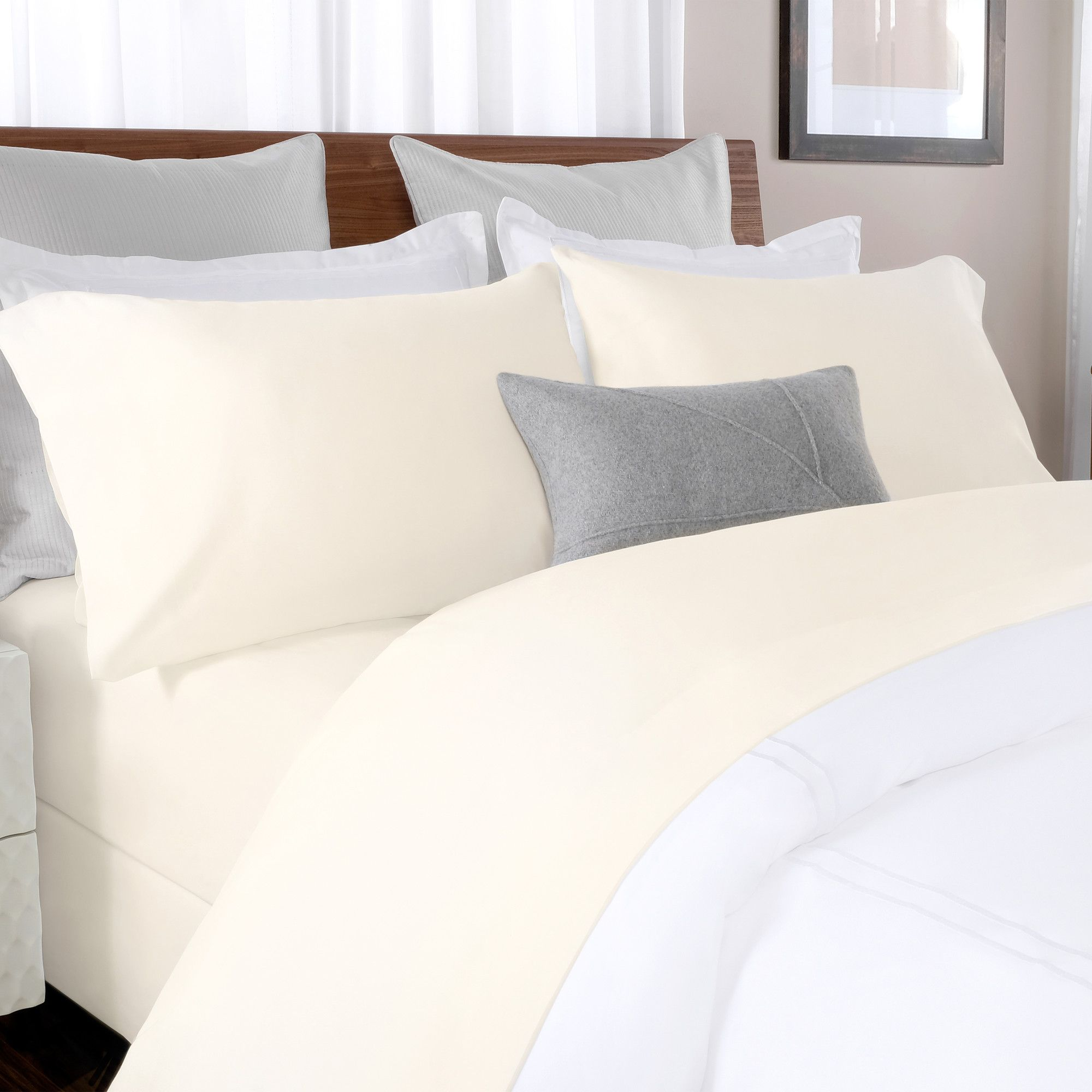 queen fitted sheet cotton percale