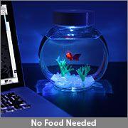 I totally want one... electronic goldfish. :)