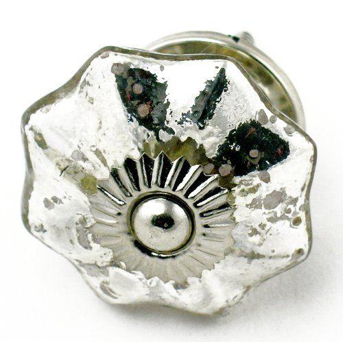 Chic Vintage Mercury Glass Cabinet Knobs, Drawer Pulls U0026 Handles 4pc ~  Style #K5