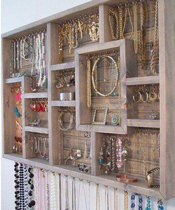 Via:LuckyMagazine 75 Creative Ways To Organize Your Jewelry