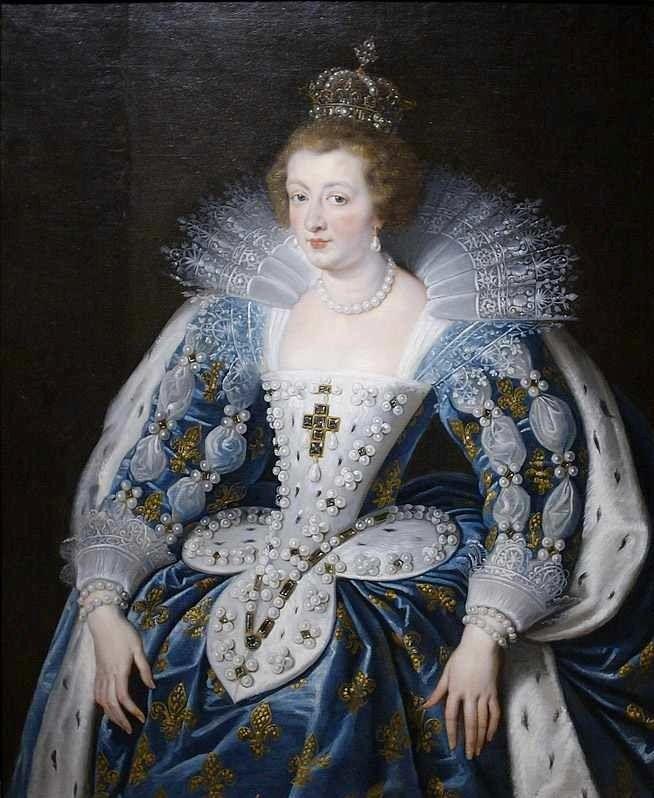 1622-1625 Anne d'Autriche by Peter Paul Rubens (Norton Simon Museum - Pasadena, California USA) | Grand Ladies | gogm