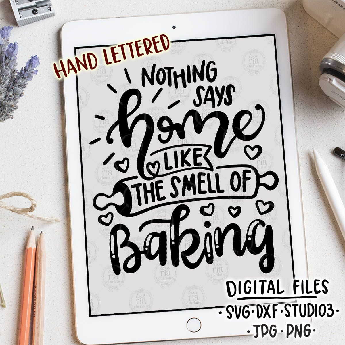 nothing says home like the smell of baking kitchen quote digital files svg dxf studio3 jpg on kitchen quotes printable id=85261