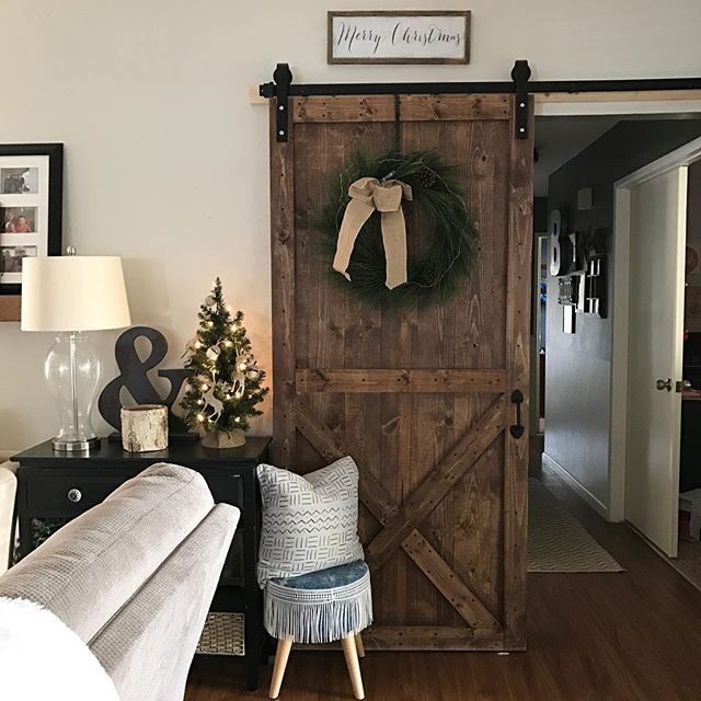 Wreaths On The Doors For The Holidays Barn Door Decor Farmhouse Doors Home Decor