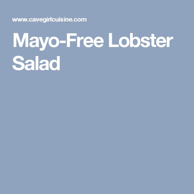 Mayo-Free Lobster Salad