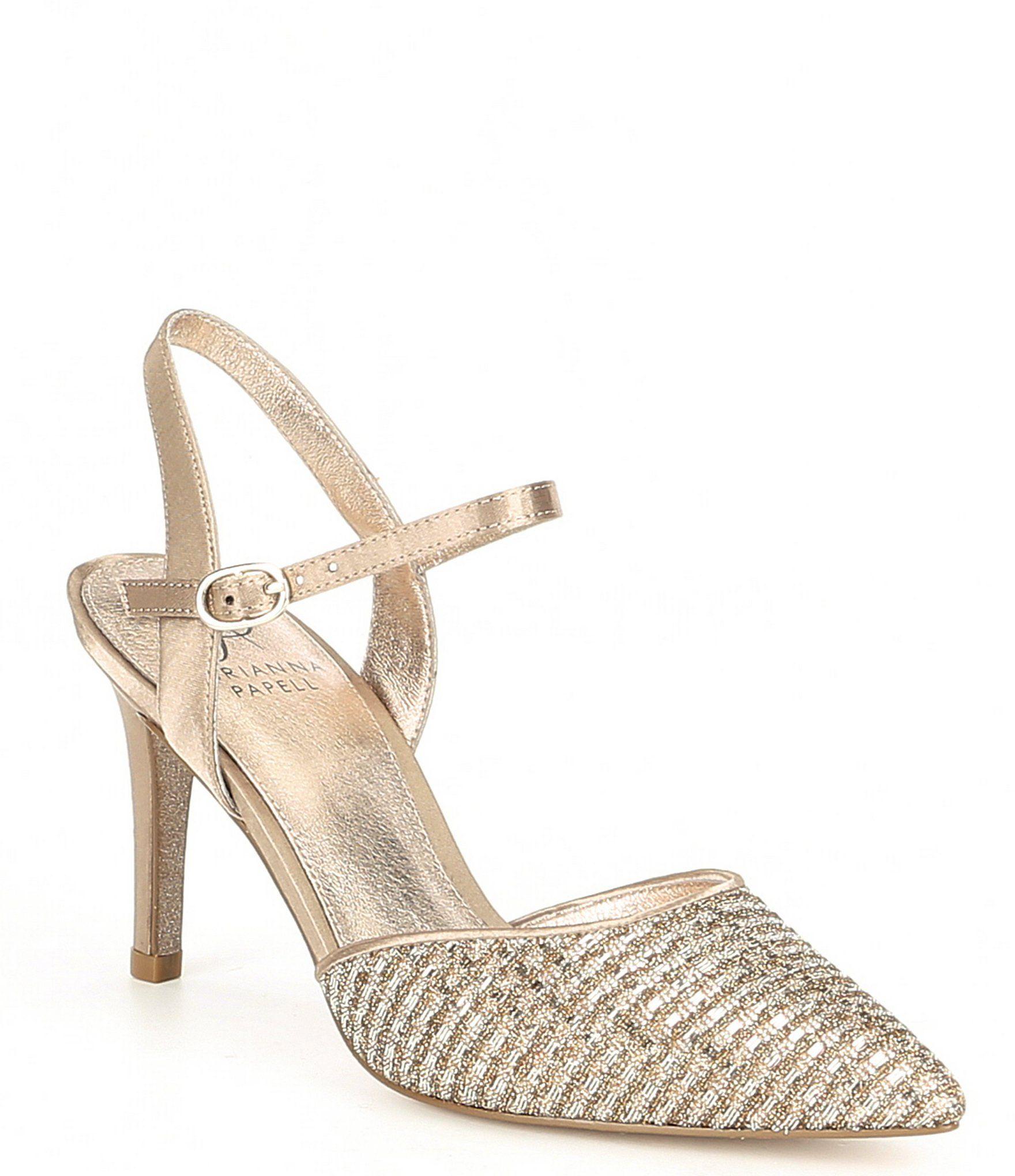8871af932fe Adrianna Papell Hadleigh Metallic Glitter Fabric Dress Pumps ...