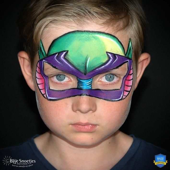 Colorful Piccolo Dragon Ball Mask by Annabel Hoogeveen