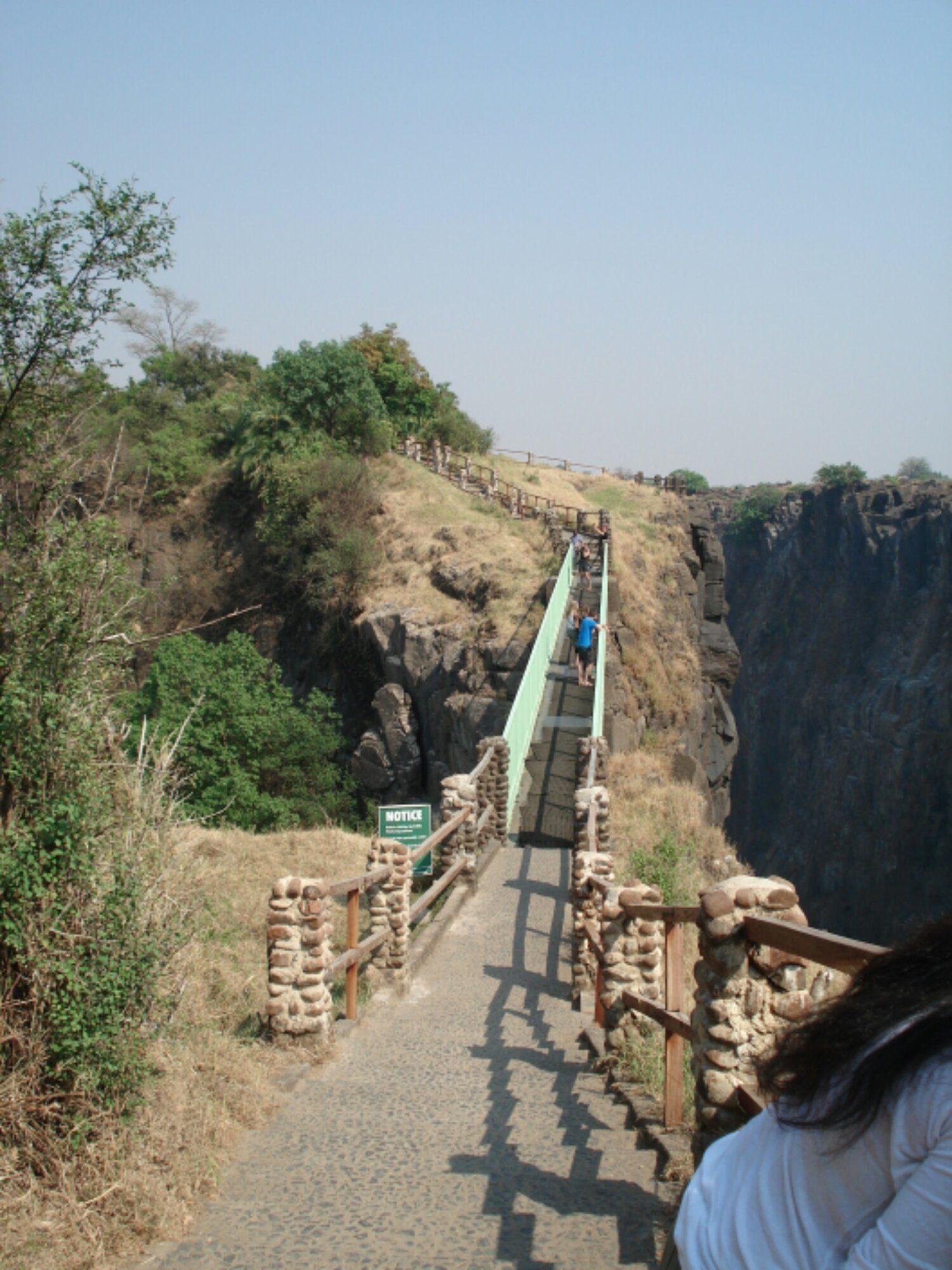 Victoria Falls Bridge which connects Zambia and Zimbabwe