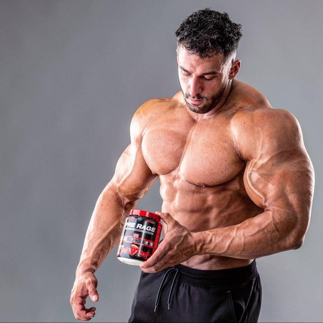 Muscled dude sperm sprays