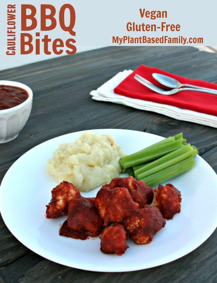 Bbq Cauliflower Bites Perfect Vegan Party Eats Pinterest