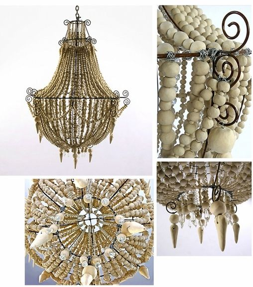 Mud studio ivory chandelier light fixtures pinterest majestic chandelier made from beads of hand rolled mud by mud studio south africa mozeypictures Image collections
