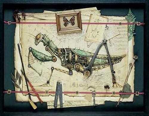Clockwork creatures (praying mantis)