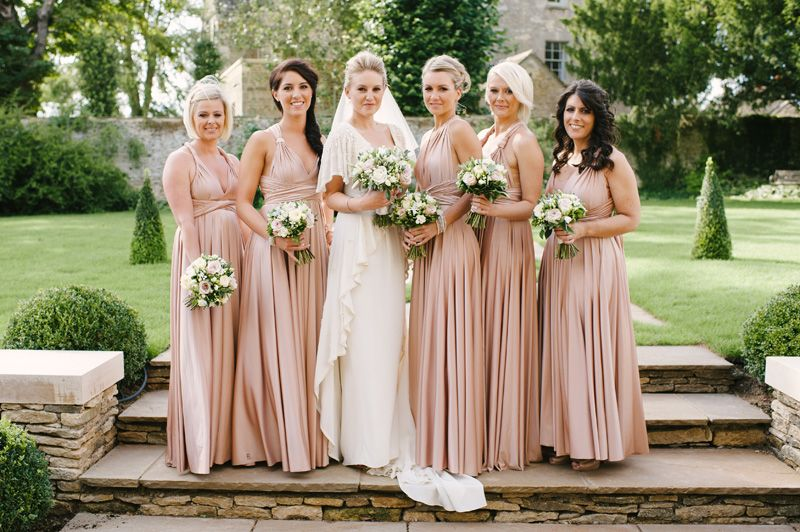Nude Bridesmaids Gowns, Neutral Dresses For Bridesmaid