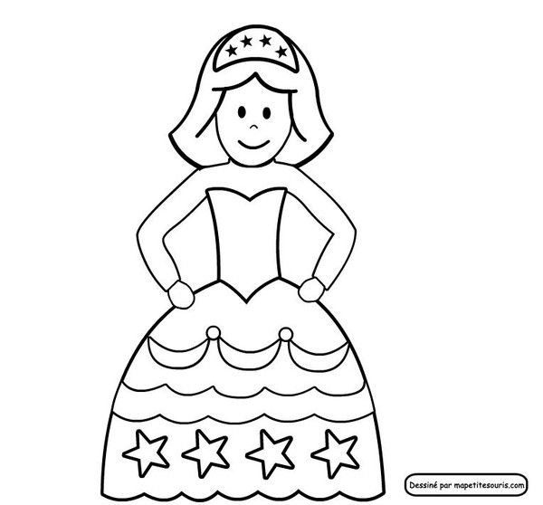 Princesse Pour Portrait Royal Coloriage Princesse