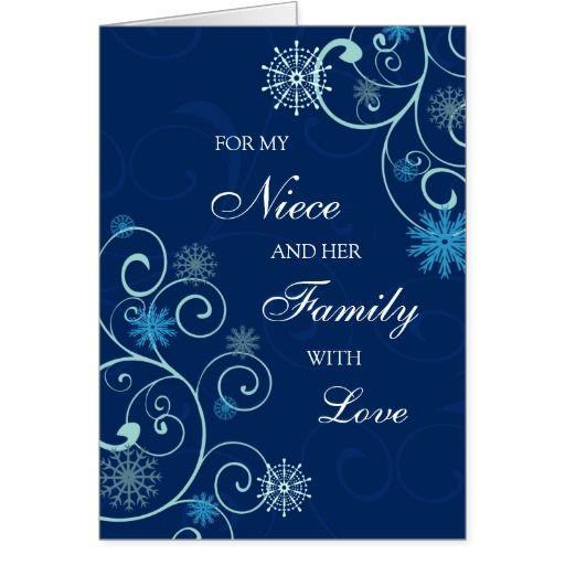 Merry Christmas Niece.Niece And Her Family Merry Christmas Card Zazzle Com