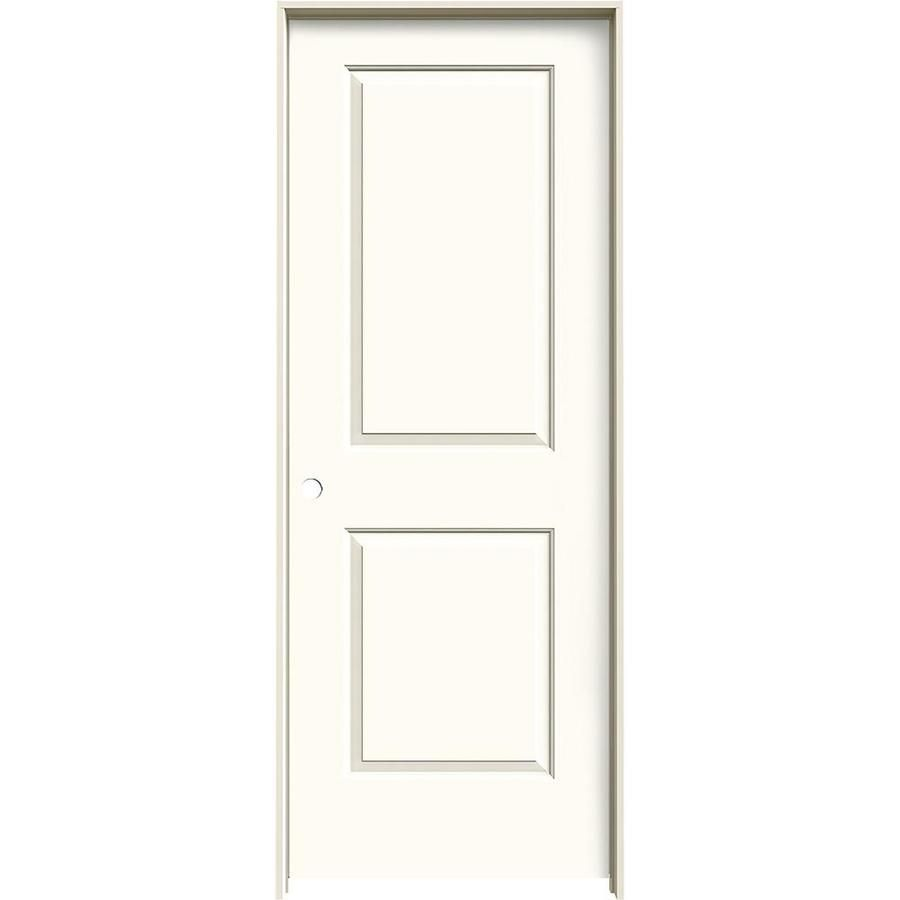 Jeld Wen Cambridge White Prehung Solid Core 2 Panel Square Interior