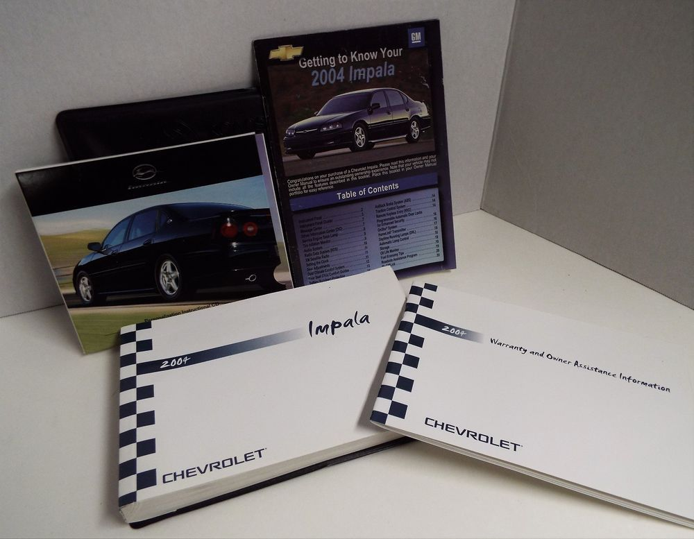 2004 chevy impala owners manual set with case dollys dream rh pinterest com 2006 Chevy Impala 2007 Chevy Impala