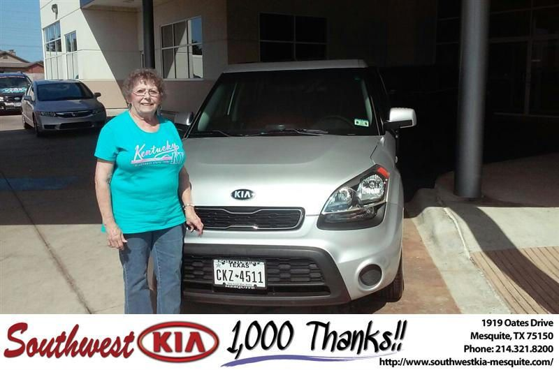 Congratulations to Mary Springer on your new car  purchase from Mike  Stanton at Southwest Kia Mesquite! #NewCar