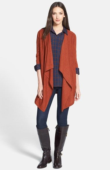 Free shipping and returns on Tory Burch Wool Cardigan & Silk Shirt, Joie Crop Skinny Jeans at Nordstrom.com.