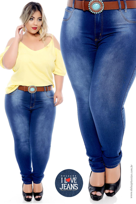 d2e040300 Calça Jeans Plus Size Elize - Coleção I Love Jeans Plus Size -  daluzplussize.com.br