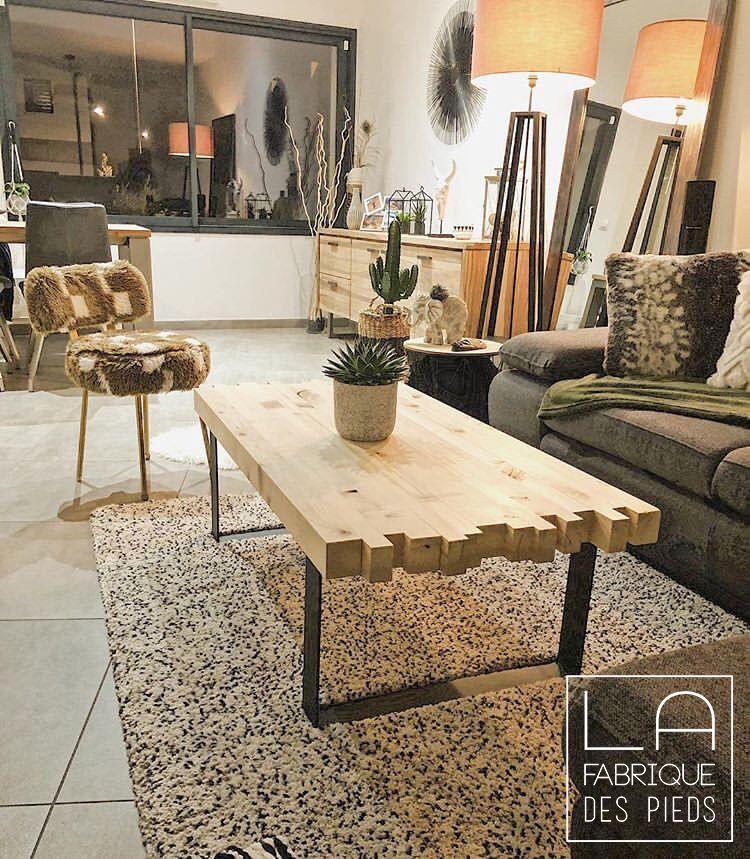 Pied Fer Plat Sur Mesure Table Basse Meuble Tv La Fabrique Des Pieds Idee Table Basse Table Basse Meuble Table Basse