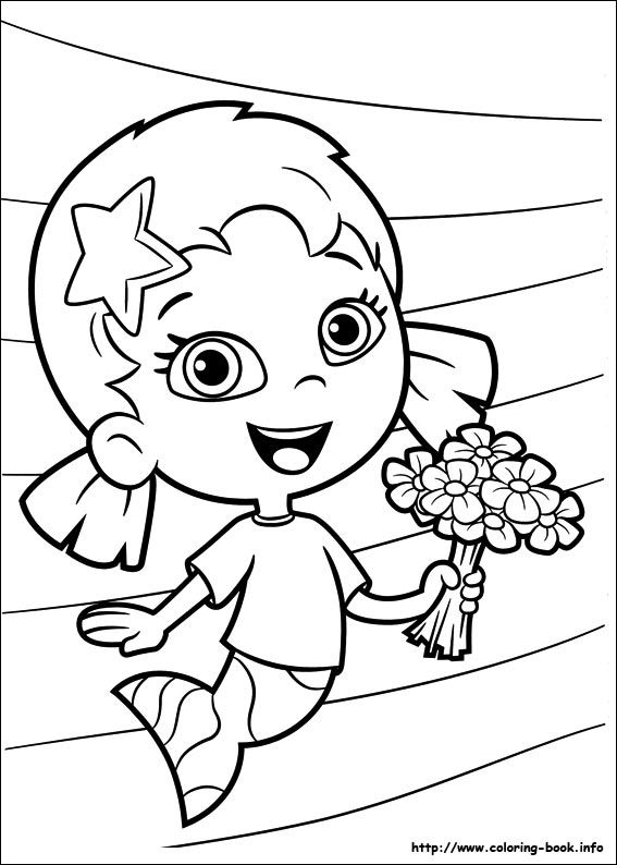 Bubble guppies coloring picture