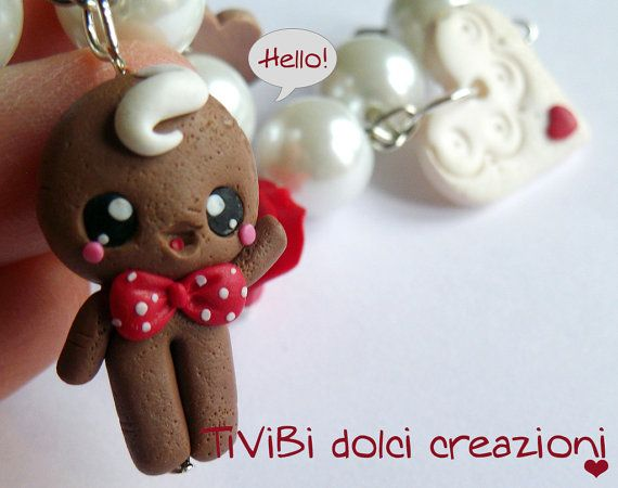My Gingerbread Man says HELLO to all of you ^^ Bracelet