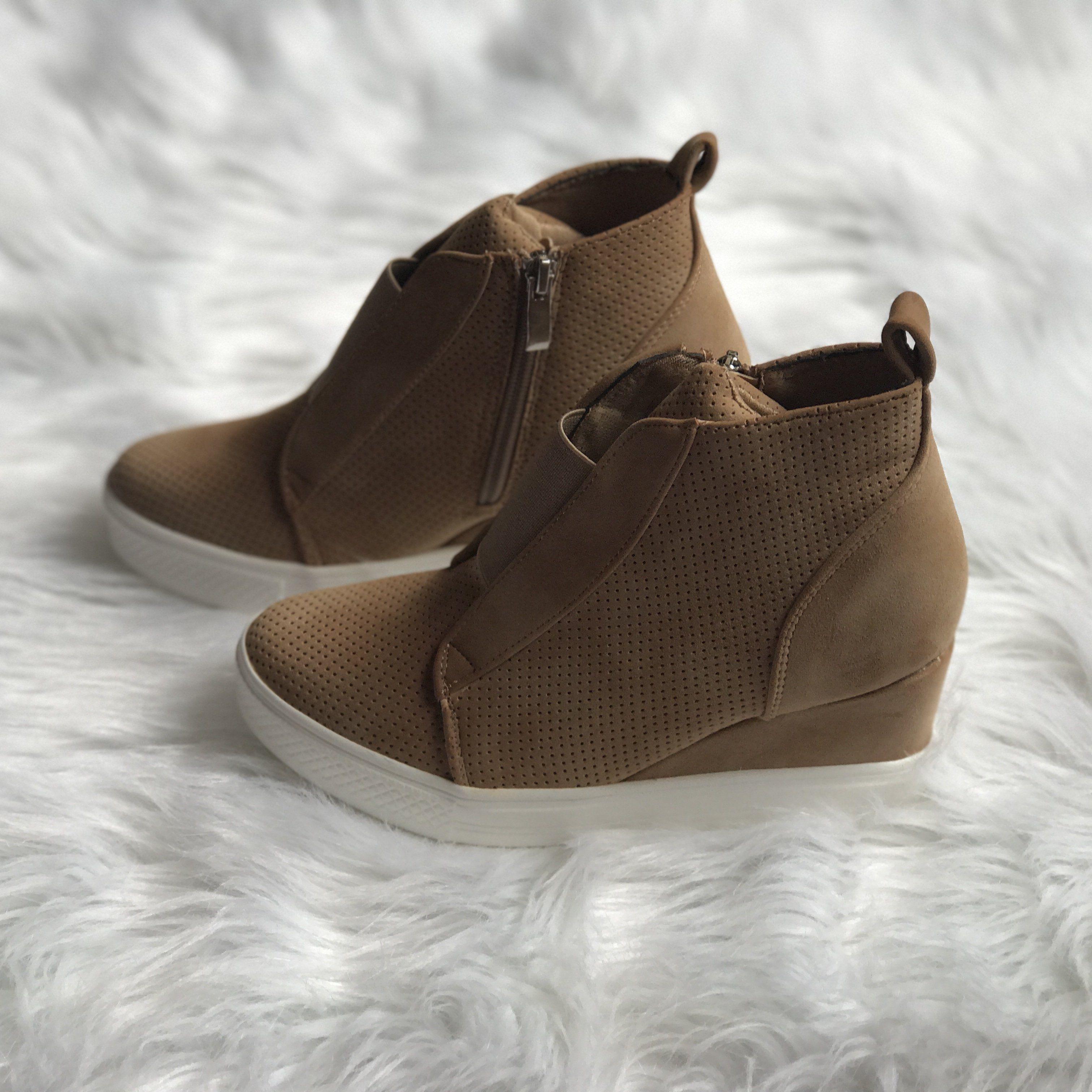 6cf34b1f8572 Ccocci Zoey Wedge Sneaker - Camel