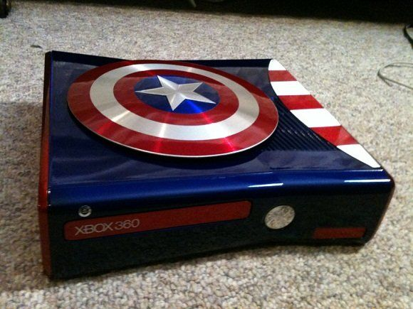 Console Xbox 360 Captain America. I love my gears of war one, but ...