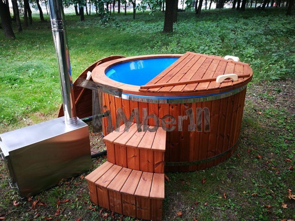 Hot Tub Idromassaggio In Vetroresina Con Stufa Esterna