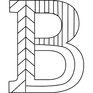 Uppercase B Coloring Page  Coloring pages  Pinterest  Coloring