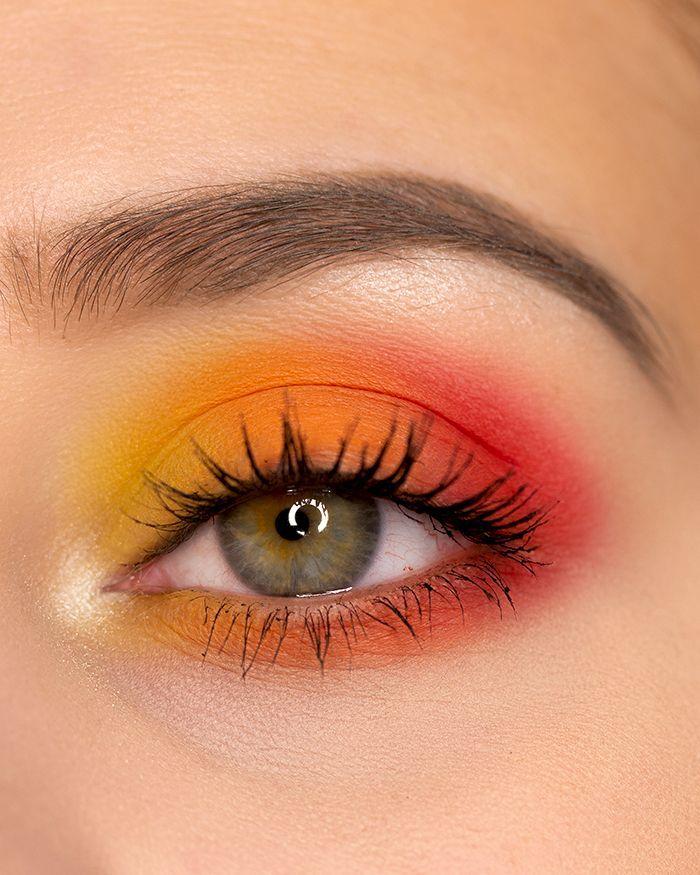 Photo of Sonnenuntergang inspiriert Eye Make Up –  Augen-Make-up inspiriert vom Sonnenunt…