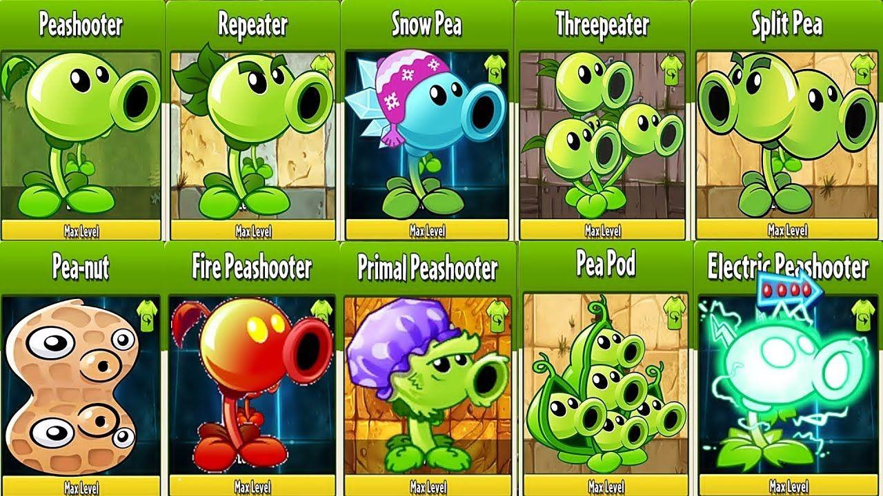 All Pea Max Level Power Up Vs Gargantuar Fight In Plants Vs Zombies 2 In 2020 Plants Vs Zombies Plants Zombie 2