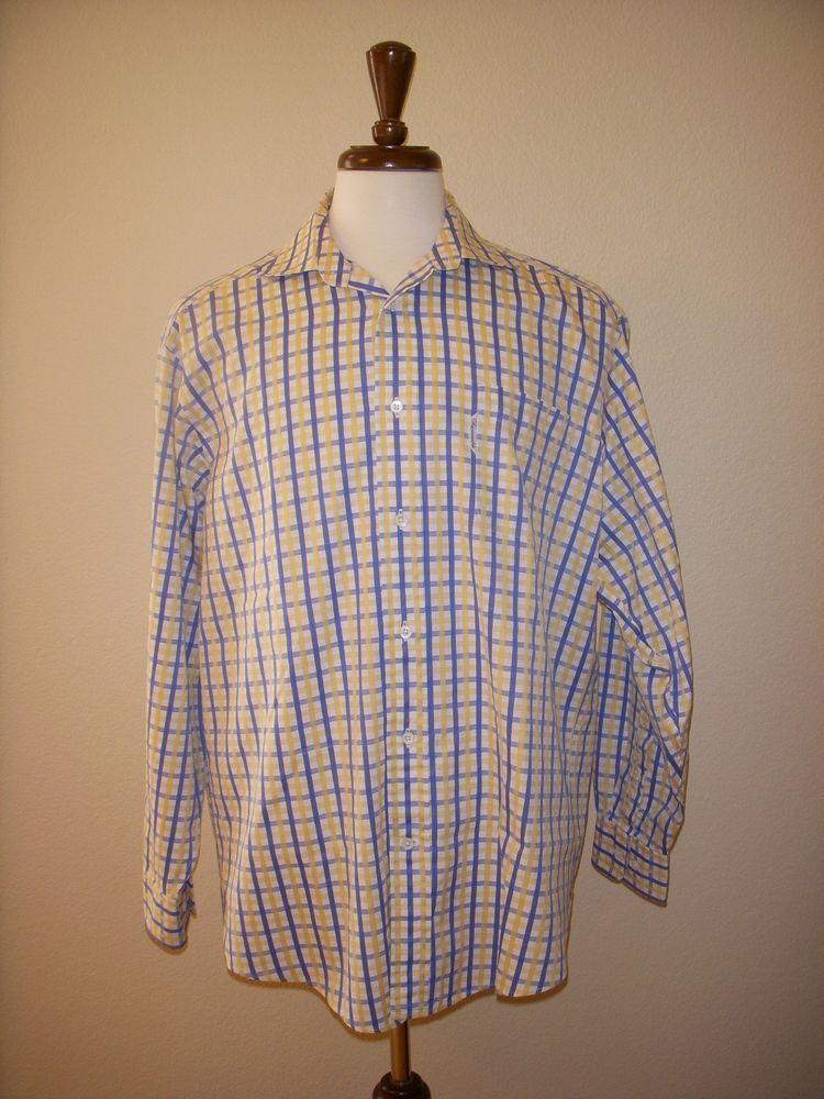 FACONNABLE SHIRT Long Sleeve Plaid Check 6 / 17 L #Faonnable