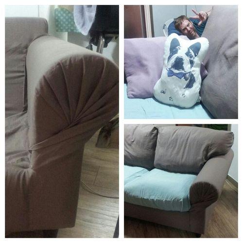 Sofa Slipcover No Sew: No-sew Sofa Cover. This Ikea Love Seat Came With NO Cover